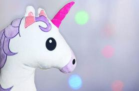 £7 instead of £19.99 (from JMD Online) for a unicorn emoji cushion, or £12 for two - save up to 59%