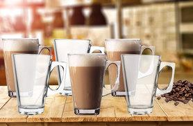 £5.99 instead of £36 (from Groundlevel) for six glass coffee mugs - save 83%