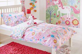 £9.99 instead of £29.99 (from Groundlevel) for a toddler-sized unicorn duvet set, £12.99 for a single, £15.99 for a double set– save up to 67%