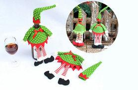 £4.99 instead of £11.99 (from Shop Sharks) for a pack of two elf wine bottle covers - start feeling festive and save 58%