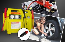 £34  (from Direct 2 Public) for a car emergency kit including jump start kit and cables, air compressor and work light