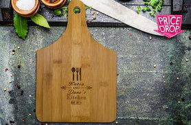 £5.99 instead of £11.53 (from Shop Sharks) for personalised bamboo chopping board – make a house a home and save 48%