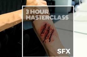 £29 instead of £210 for a three-hour Halloween SFX makeup masterclass with a glass of bubbly with SS Makeup Academy - choose from two locations and save 86%
