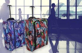 £10 instead of £53.99 (from Trendy Look) for a cabin approves suitcase - choose from two designs and save 81%