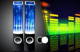 £9.99 (from Chimp Electronics) for a pair of dancing water speakers - choose from black, white or pink and save 80%