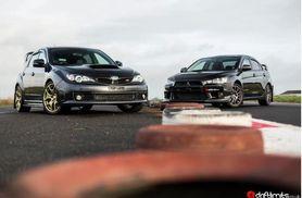 £49 instead of £99 for a Subaru Impreza STI vs Mitsubishi Evolution X driving experience with Drift Limits, Hemel Hempstead - save 51%