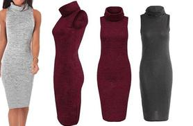 £12 instead of £49 (from Boni Caro) for a sleeveless turtleneck midi dress - choose from three colours and save 76%