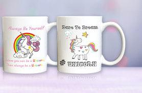 £3.99 instead of £9.99 (from Deco Matters) for a unicorn mug - choose from nine designs and save 60%