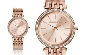 £119 instead of £222.01 for a Michael Kors women's Darci rose gold-plated watch - get your class on and save 48%