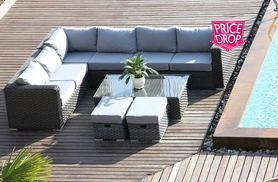 £479 instead of £970 (from Dreams Outdoors) for a black eight-seater Yakoe Papaver rattan corner sofa set - save 51%