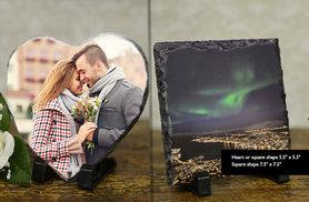 From £9 instead of £44.99 (from Your Perfect Canvas) for a personalised slate - choose from four designs and save up to 82%
