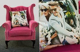 From £8 (from Dip Into Sales) for a personalised colour photo cushion - choose from two sizes and save up to 60%