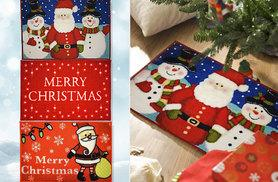 £4.99 instead of £22 (from Brand Shopping Direct) for a novelty Christmas door mat - choose from three designs and save 77%