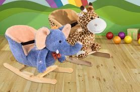 From £19.99 (from Aosom) for a kid's ride-on rocking chair - choose from six cute animal designs and save up to 56%