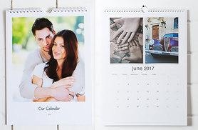 £4.99 instead of £17.99 (from Huggler) for an A4 personalised wall calendar, £6.99 for an A3 calendar – save up to 72%