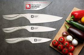 £9.99 (from Amefa) for a three-piece knife starter set