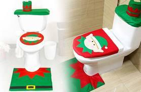£6.99 instead of £29.99 (from UK Home and Garden Store) for a Christmas elf toilet seat cover, bathroom rug and toilet tank, or £12.99 for two - save up to 77%