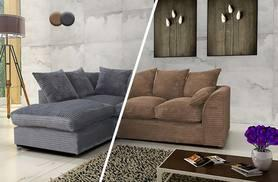 £299 instead of £699 (from Abakus Direct) for a luxury corner sofa - choose from two designs in brown or grey and save 57%