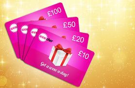 £10, £20, £50 or £100 Wowcher Gift Card - give the ultimate gift! DELIVERY INCLUDED