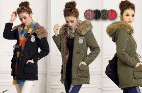 £19 instead of £61 (from EFMall) for a women's fleece-lined parka coat - choose from six colours and save 69%