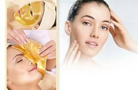 £6 instead of £99.99 (from Forever Cosmetics) for a pack of 10 gold collagen face masks and a headband - save 94%