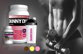 £22  (from Skinny Diva) for a four-week* supply of 'meal replacement' shake mix and a one-month** supply of ultimate T5 'fatburners'