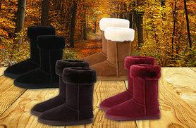 £42 instead of £146.01 (from Evaniy) for a pair of ladies' sheepskin collar boots - save 71%