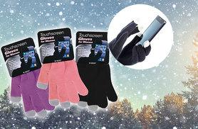 £5 instead of £16 (from Fair Retail Adventures) for a pack of three pairs of touchscreen gloves - get three colours and save 69%