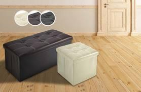£9.99 instead of £39.99 (from Fusion Online) for a single luxury ottoman stool, or £14.99 for a double – sit down and save up to 75%