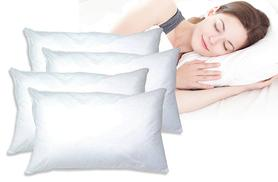 £12 instead of £65 (from Love 2 Sleep) for four super bounce-back pillows and four pillow protectors - save 80%