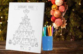 £3.99 instead of £7.99 (from Deco Matters) for an A5 kids' Christmas advent calendar colouring canvas, £5.99 for A4, £7.99 for A3 and £8.99 for A2 - save up to 50%