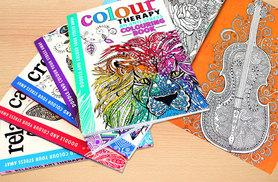 £11.99 instead of £60.96 (from Bangzo) for five art therapy adult colouring books - say goodbye to stress and save 80%