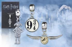 £5 instead of £12 (from Aspire) for a Harry Potter® silver plated Dobby, Platform 9¾ or Golden Snitch charm - save 50%