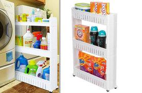 £8.99 instead of £26 (from Zoozio) for a three-tier slim slide-out kitchen storage cart - save 65%