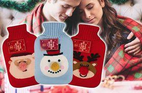 £14 instead of £29.50 (from Fair Retail Adventures) for a three-pack of Christmas hot water bottles - choose from two designs and save 53%