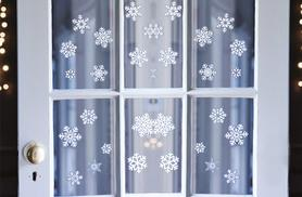 £2.99 instead of £9.99 (from Bargain Shop London) for a single pack of snowflake window stickers, £3.99 for a two pack and just £4.99 for a four pack - save up to 70%