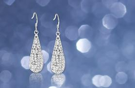 £6 instead of £58 (from Evoked Design) for a pair of 18ct white gold-plated crystal earrings - save 90%