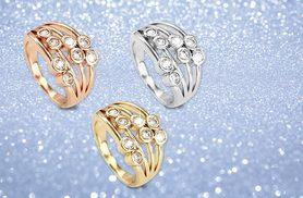 £6 instead of £39 (from Bijou Armour) for a four-layer ring with crystals - choose from three colours and save 85%