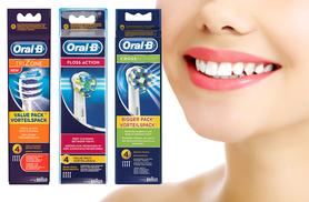 £9.99 (from Chemist 4 U) for a set of four Oral-B toothbrush heads, £18.98 for eight, £27.98 for 12 - choose from cross action, trizone or floss and save up to 44%