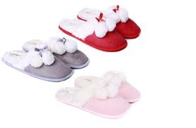 £6 for a pair of ladies luxury slippers available in nine colours from London Shoe Co