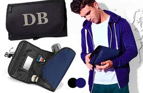 £9.99 instead of £23.99 (from Treats on Trend) for a men's personalised travel washbag - keep those toiletries in order and save 58%