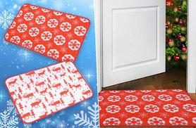 £3.98 instead of £27 (from Kequ) for a Christmas doormat, £5.98 for two - choose from two festive designs and save up to 85%