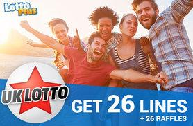 £2 instead of £6 (with Lotto Plus) for 26 lines over two draws with two shares (standard) in the UK Lotto Syndicate - save 67%