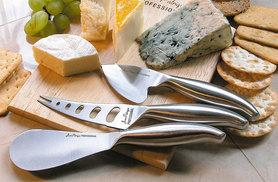 £14.99 instead of £55 (from Jean-Patrique®) for a three-piece cheese knife set with traditional cheese board - save 73%