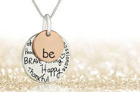 "£10 instead of £24.99 (from Snap One Up) for an engraved ""Be Kind"" necklace - add some glitz and glam to your outfit and save 60%"