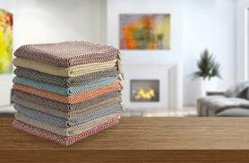 £6.99 instead of £27 (from Elite Housewares) for a large cotton zig-zag throw - choose from seven colours and save 74%