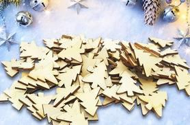 £2 instead of £15 (from Alvi's Fashion) for 50 mini plywood Christmas tree templates, or £4 for 100 - save up to 87%