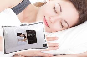 £12 for two duck feather and down pillows or £18 for two goose feather and down pillows from Deals Direct