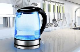 £18 instead of £49.99 (from Sashtime) for an LED glass kettle - choose white or black and save 64%