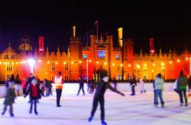 From £7.50 for a child's ice skating ticket at Hampton Court Palace, £9 for a concession, £10.50 for an adult or £30 for a family of four from Arena Group - save up to 21%